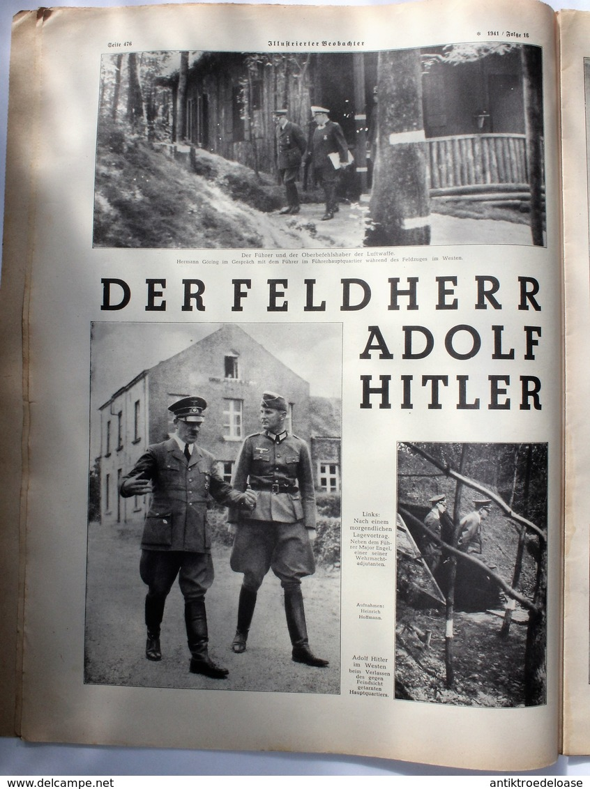 Berliner Illustrierte Zeitung 1941 Nr.16 Der Führer Zum 20.April 1941 Mit Hermann Göring - Deutsch