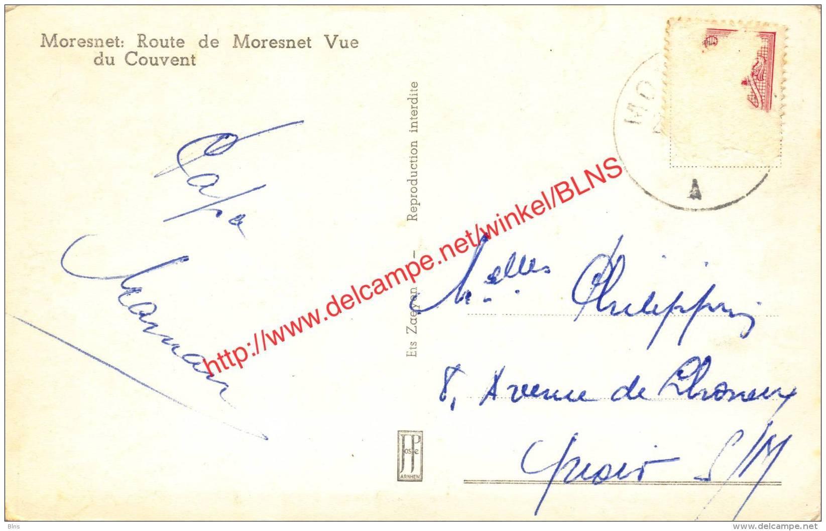 Route De Moresnet - Vue Du Couvent - Moresnet - Plombières