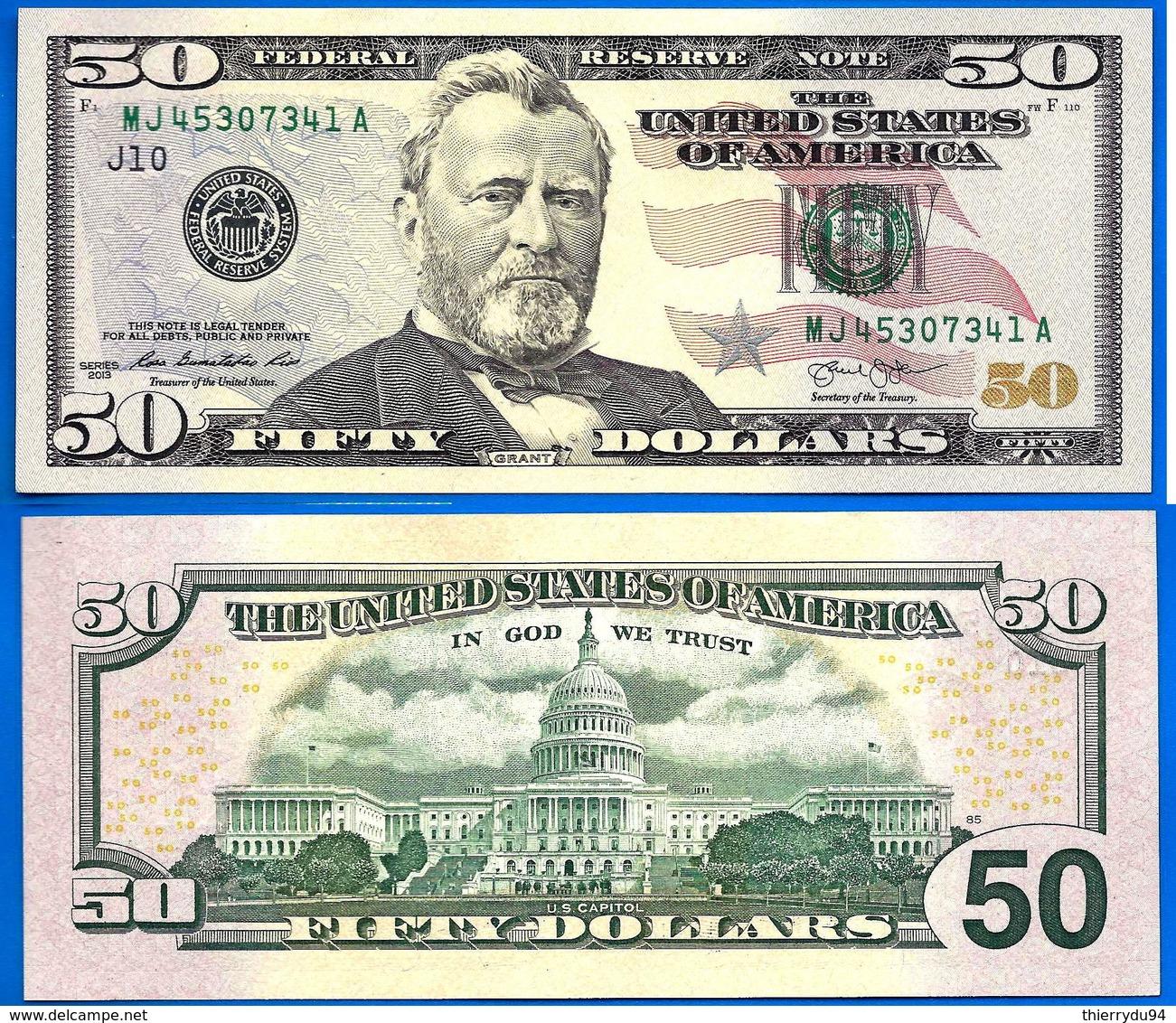 USA 50 Dollars 2013 Mint Kansas City J10 NEUF UNC US Etats Unis United States Dollar Skrill Paypal Bitcoin - Federal Reserve Notes (1928-...)
