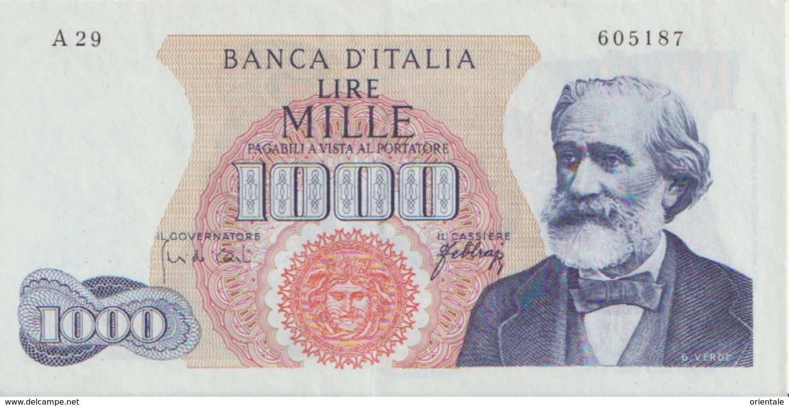 ITALY  P. 96d 1000 L 1965   VF - [ 2] 1946-… : République