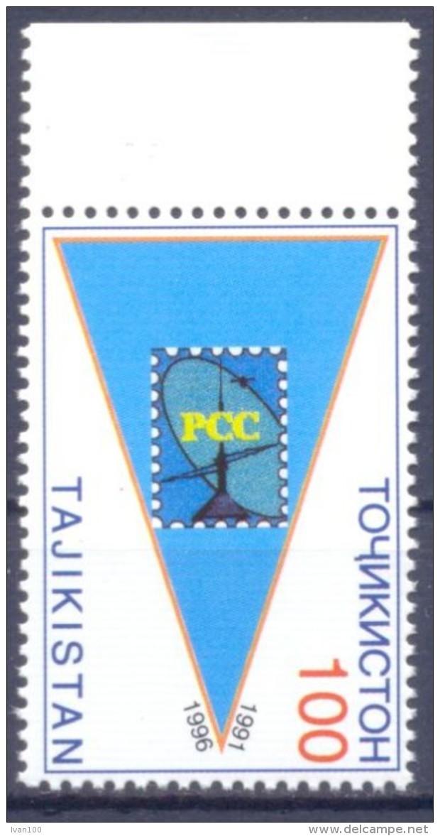 1996. Tajikistan, 5y Of RCC, 1v, Mint/** - Tadschikistan