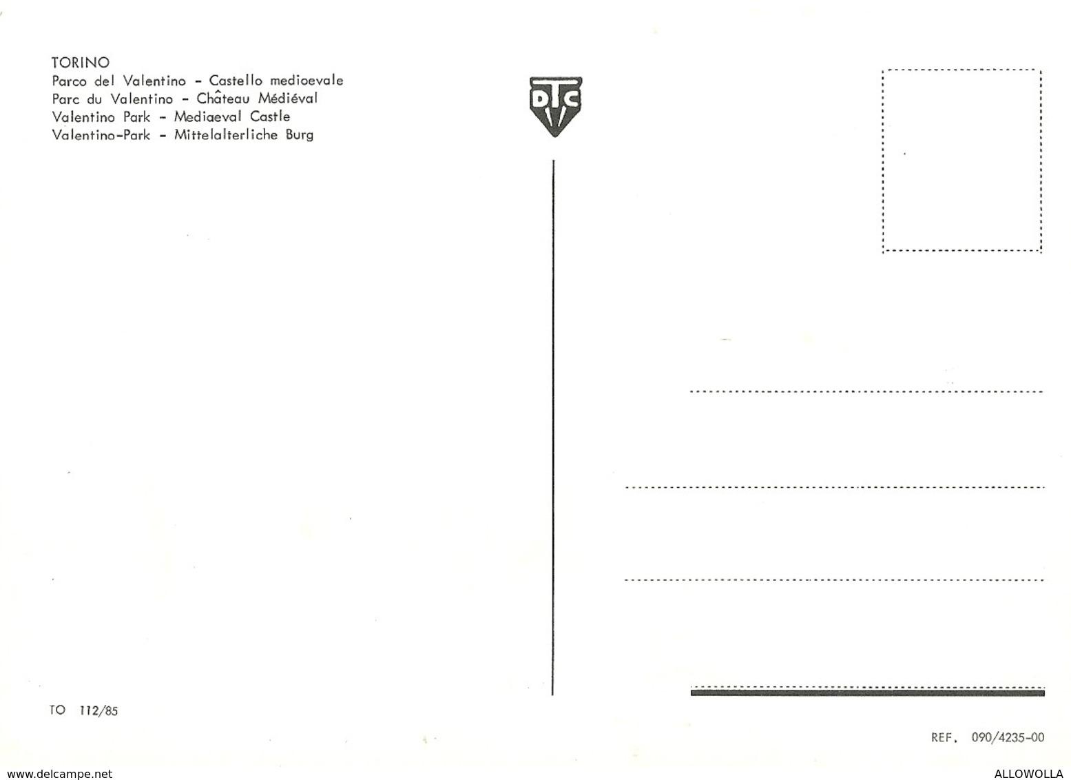 """2841 """"TORINO - PARCO DEL VALENTINO - CASTELLO MEDIOEVALE"""" CARTOLINA POST. ORIGINALE NON SPEDITA - Churches"""