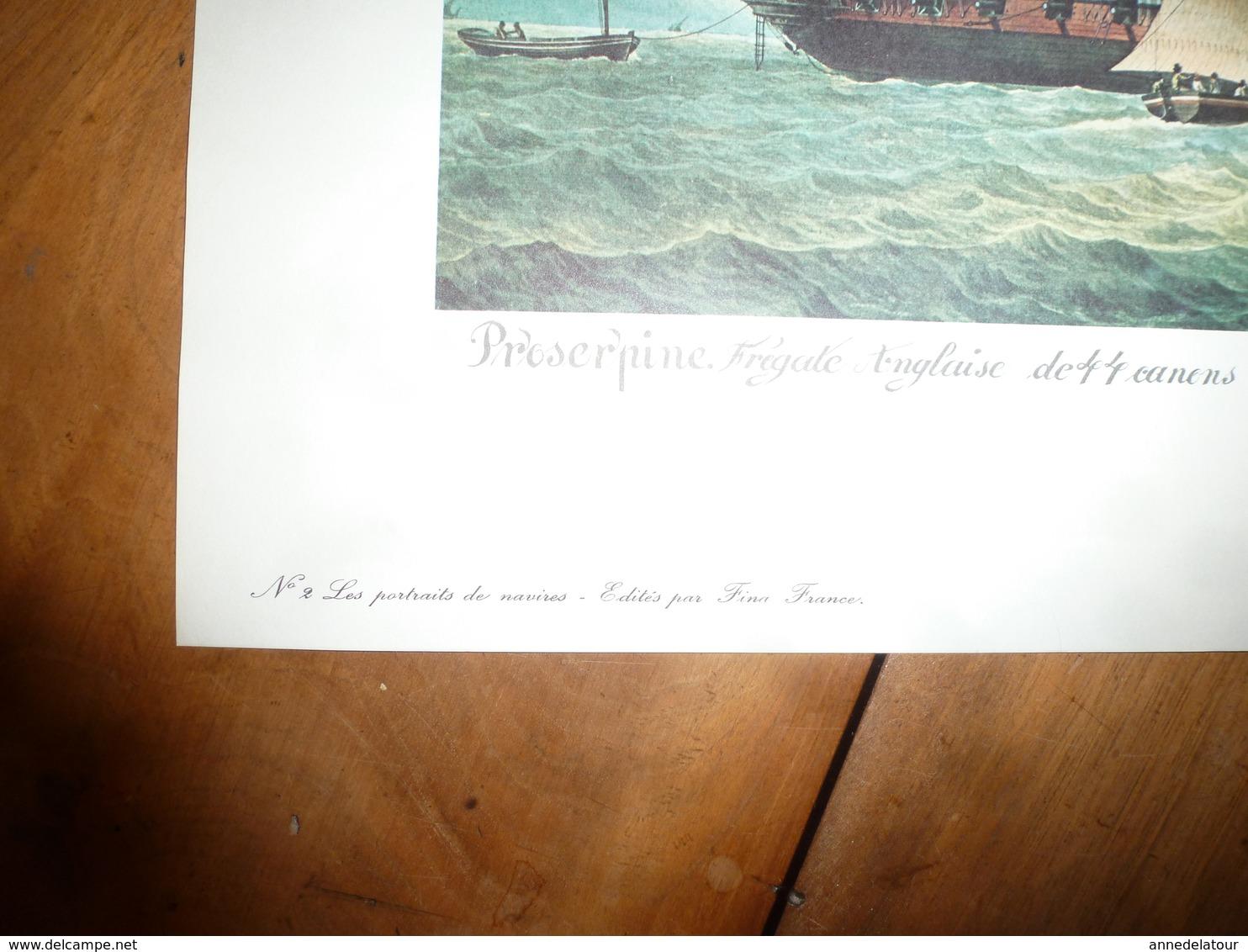 PRESERPINE,frégate Anglaise De 44 Canons,prise Par La Frégate Française PENELOPE  (Portrait Navire  ,dim. = 48 X 36cm - Decoración Maritima