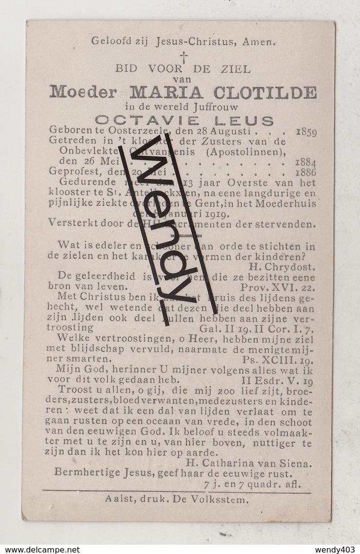 Originele Foto Moeder Maria Clotilde-Octavie Leus    °Oosterzeele/zuster 1884    +Gent 1919 - Images Religieuses
