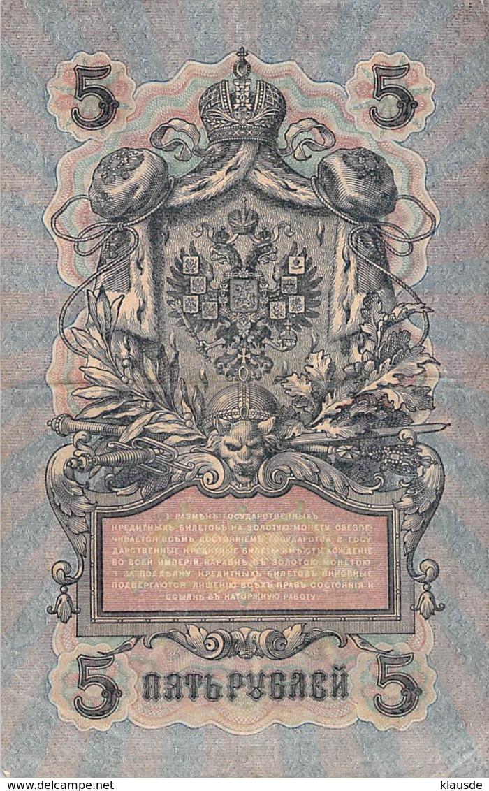 5 Rubel Banknote Rußland 1909 - Russland