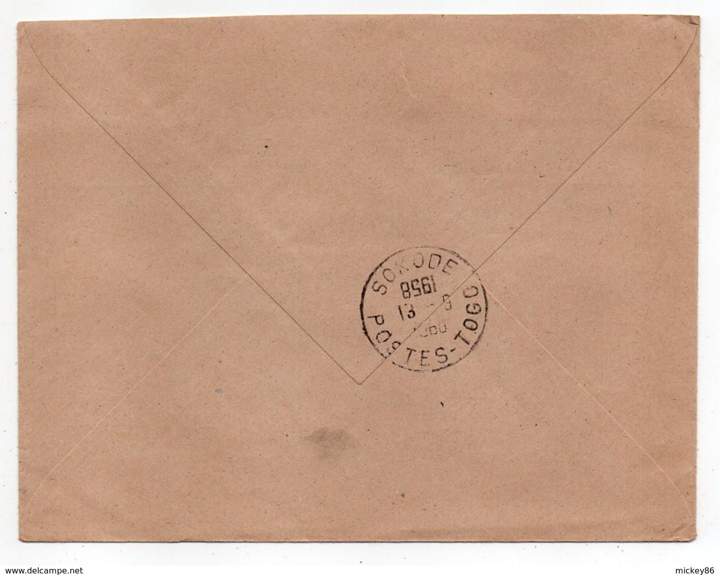 Togo -1960--lettre De SOKODE  Pour Poitiers (France)-- Composition De Timbres  -- Beau Cachet - Togo (1960-...)