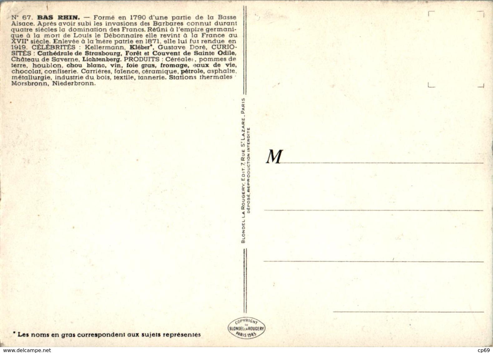 PINCHON Année 1945 Département Du Bas-Rhin (67) Strasbourg Sélestat Saverne Haguenau Wissembourg Erstein Schirmeck TB.E - Non Classés