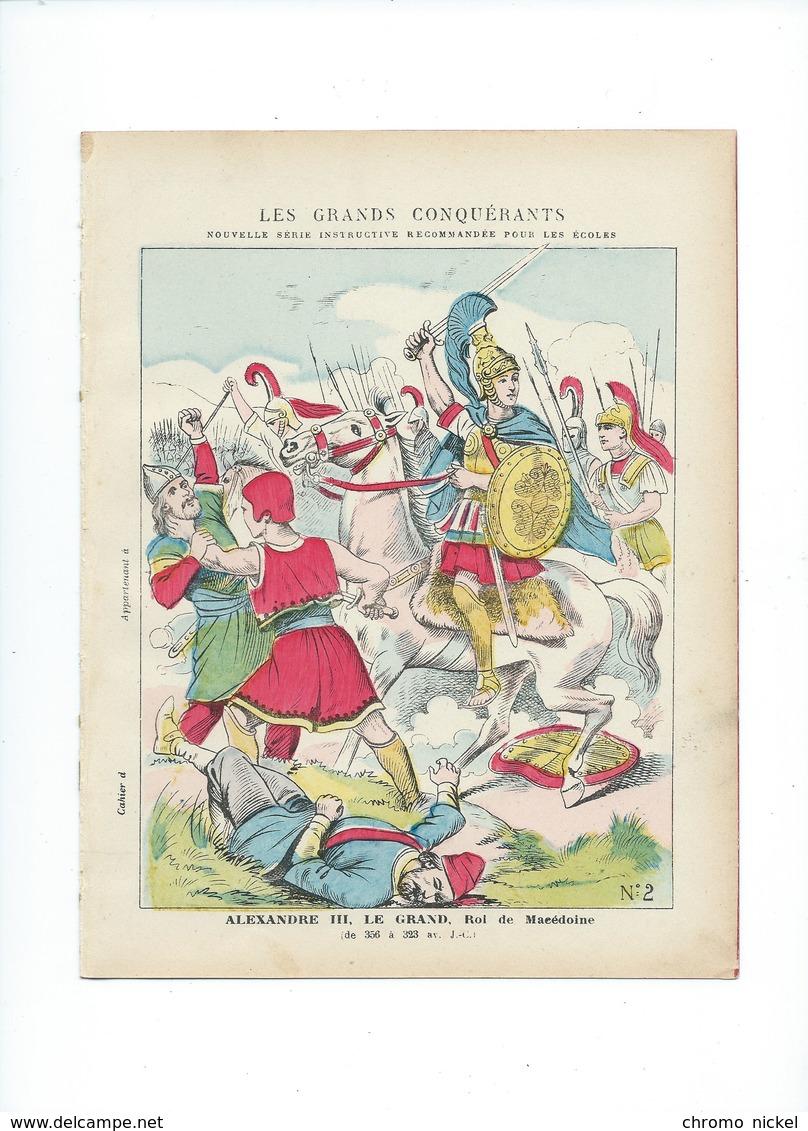 BUCÉPHALE Alexandre III Le Grand Couverture Protège-cahier  TB + / - 1900s 3 Scans Texte Au Dos RR - Protège-cahiers