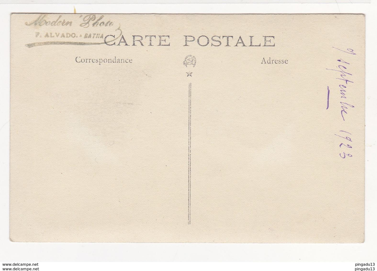 Au Plus Rapide Carte Photo Zouave Photographe F Alvado Batna 9 Septembre 1923 Très Bon état - Régiments