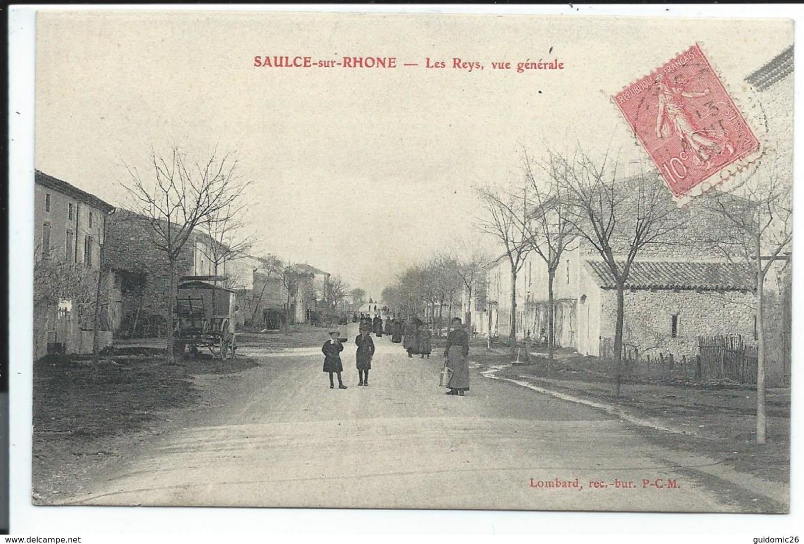 Saulce Sur Rhone,les Reys,vue Generale - France