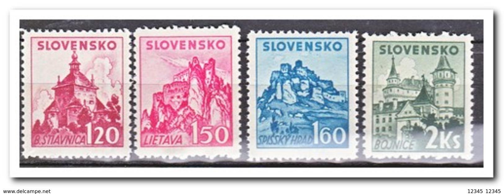 Slowakije 1941, Postfris MNH, Castles And Palaces - Slowakije