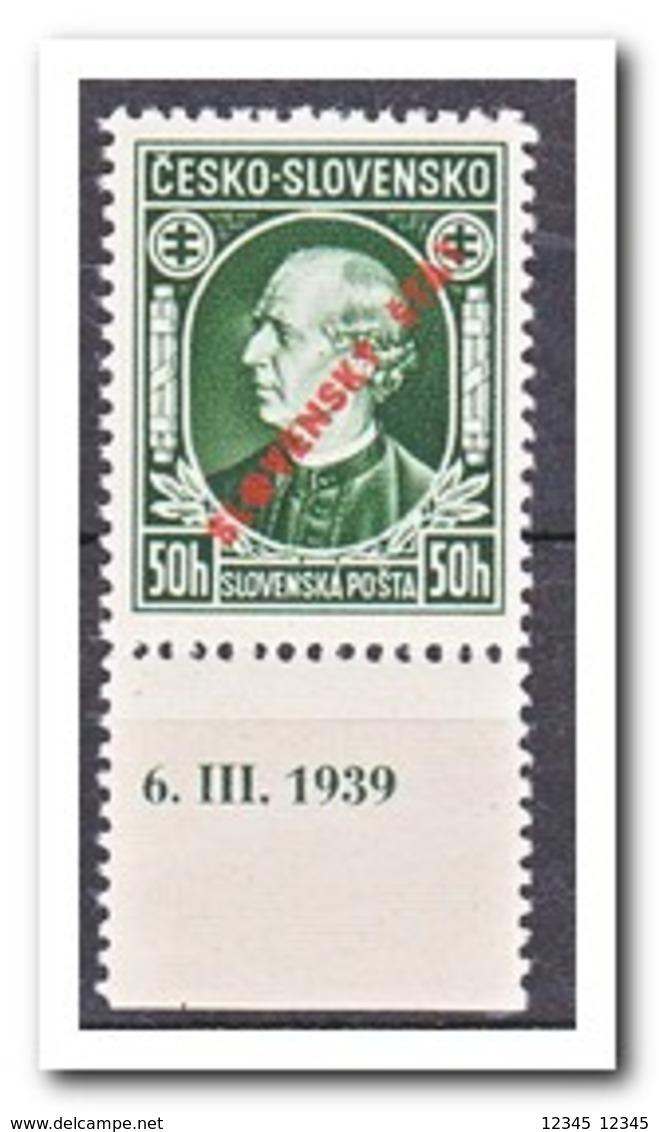 Slowakije 1939, Postfris MNH, Andrej Hlinka, L12,5 - Unused Stamps