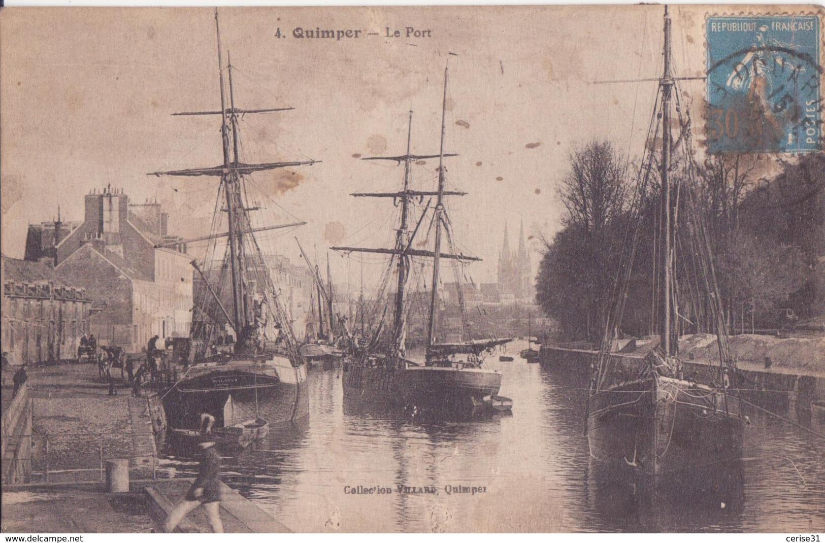 CPA - 4. QUIMPER Le Port - Quimper