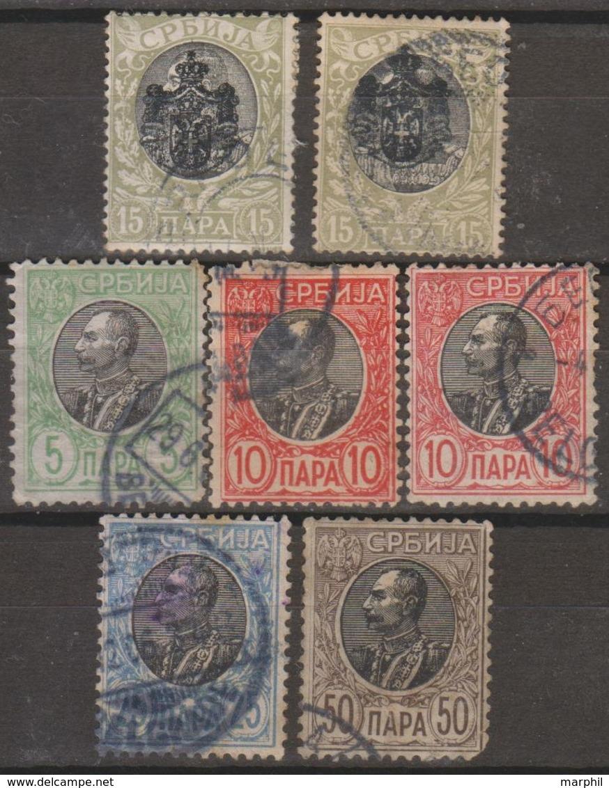 Serbia 1903-1905 Selezione 7v (o) Vedere Scansione - Serbia