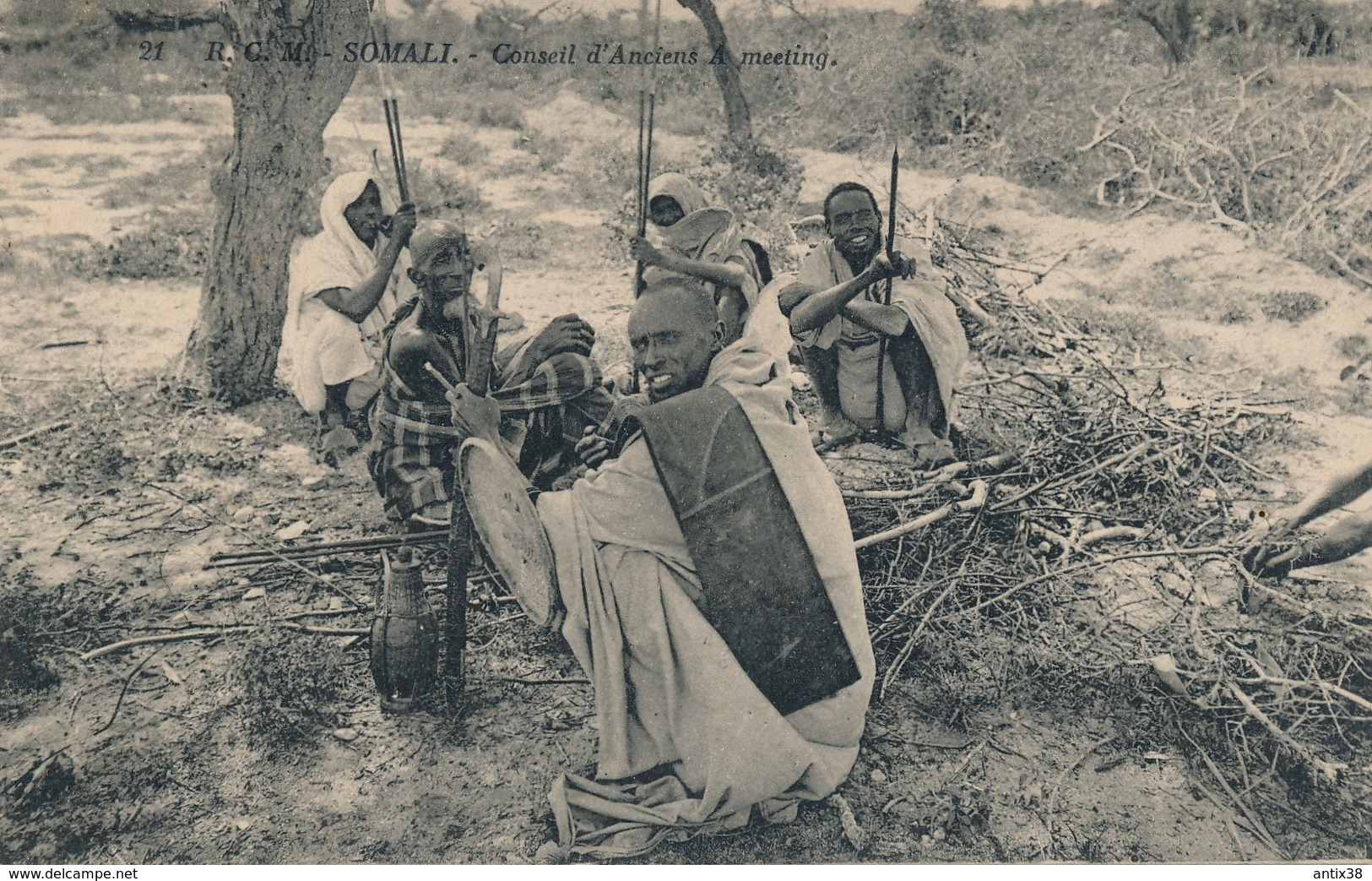 I64 - SOMALIE - SOMALI - Conseil D'Anciens - A. Meeting - Somalie