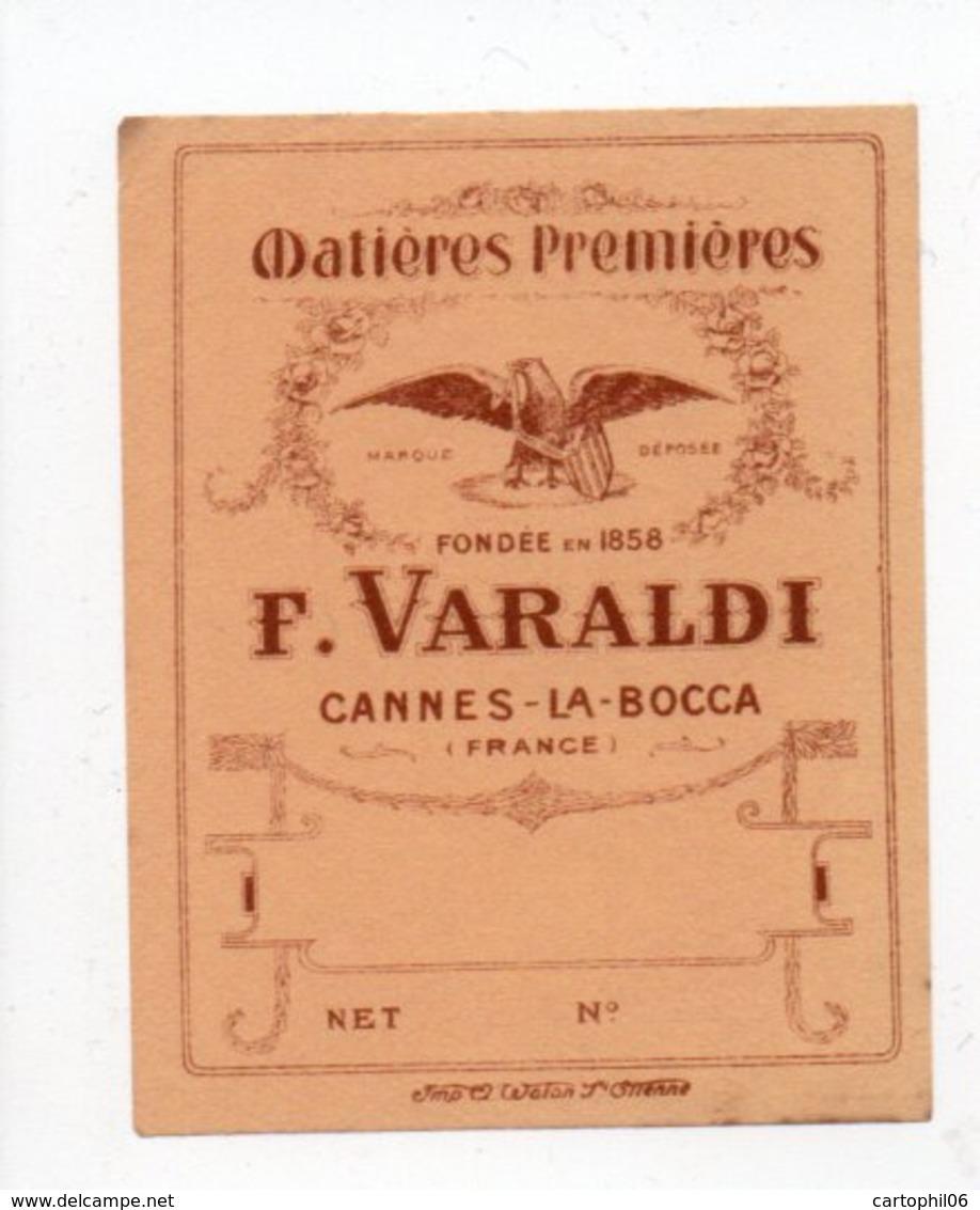 - PARFUMERIE - Matières Premières - F. VARALDI - CANNES-LA-BOCCA - - Labels