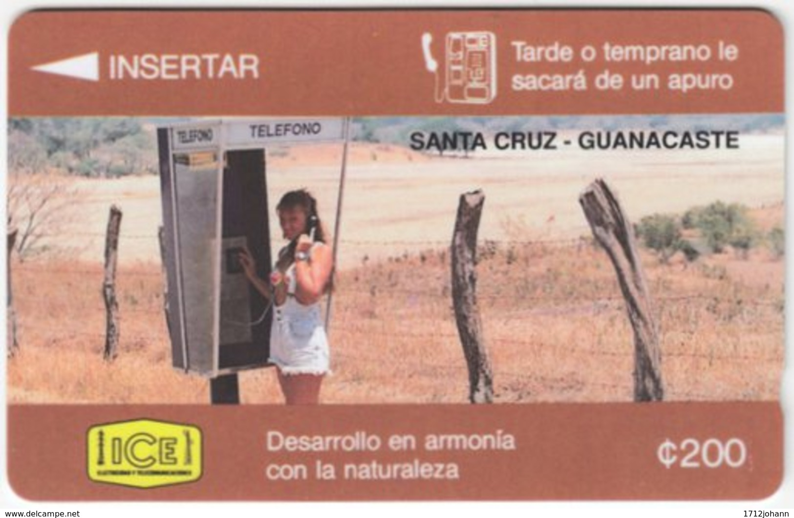 COSTA RICA A-171 Magnetic ICE - Communication, Phone Booth - 3CORA - Used - Costa Rica