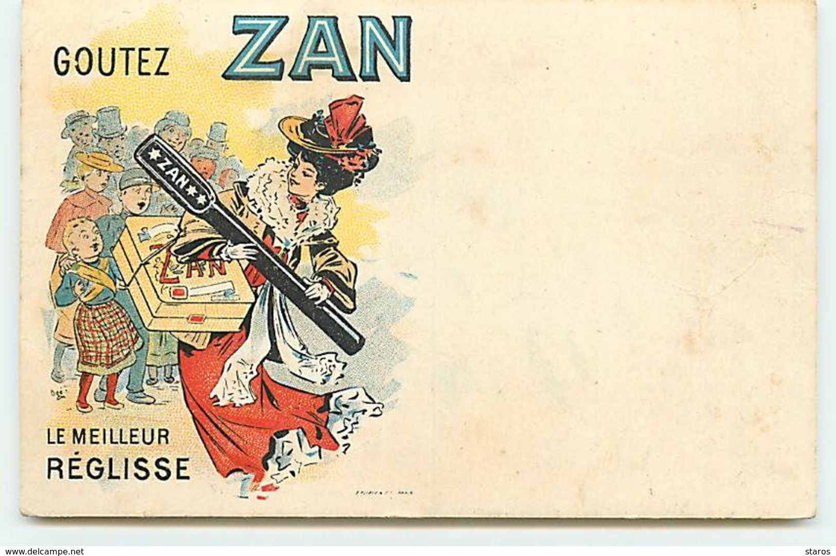 Publicité - Goutez Zan - Le Meilleur Réglisse - Advertising