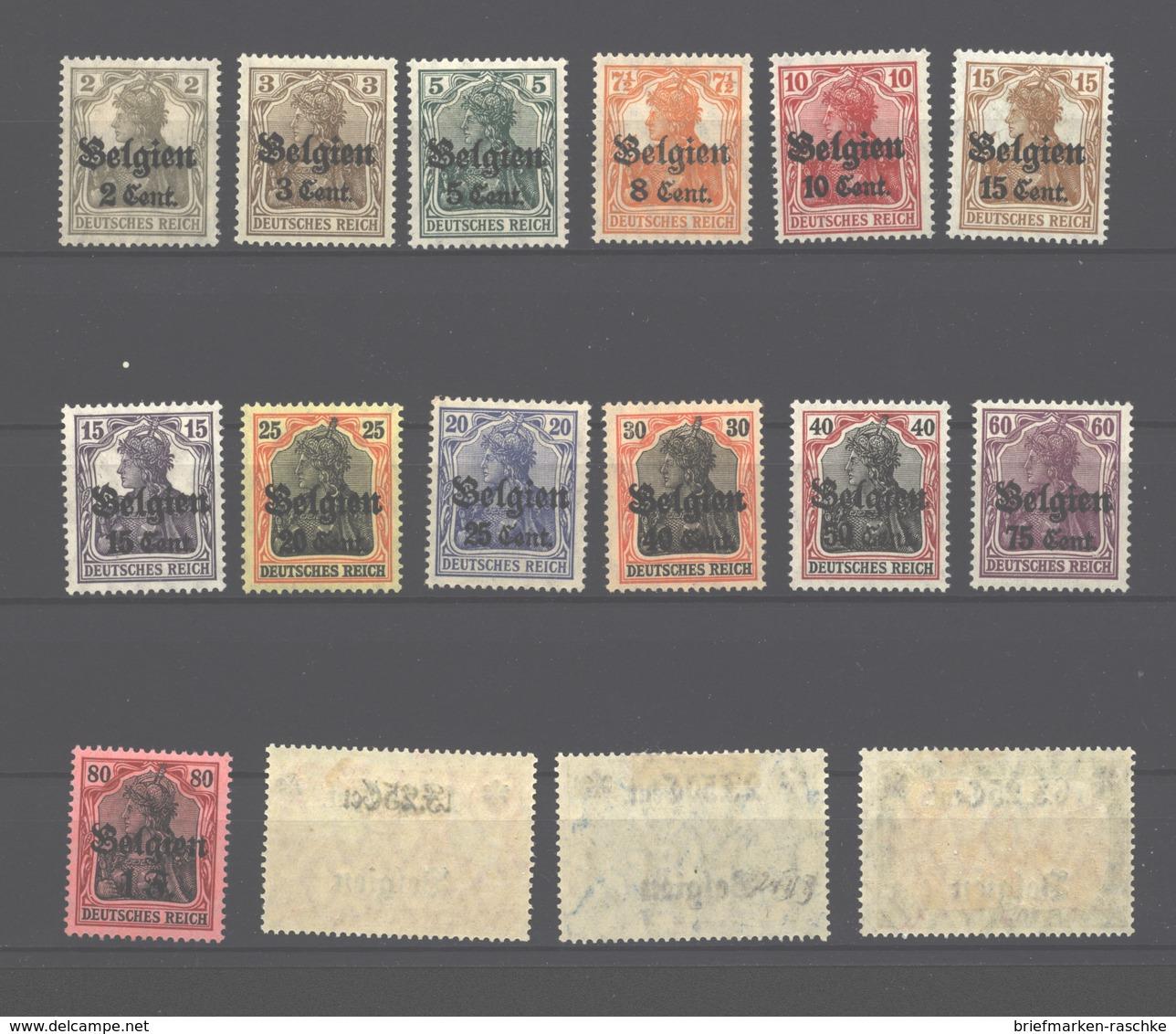 Belgien,10/25,x, Mit Falz (3650) - Besetzungen 1914-18