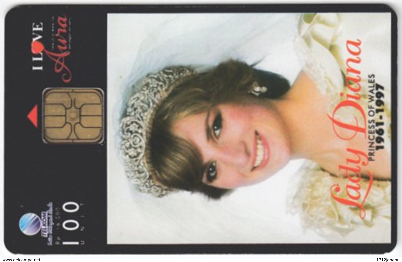 INDONESIA A-235 Chip Telekom - Lady Diana, Princess Of Wales - Used - Indonesien