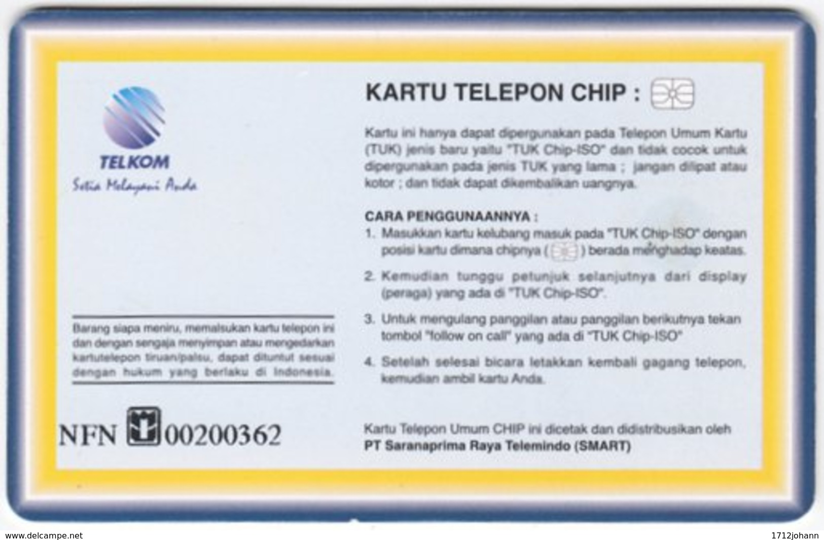 INDONESIA A-240 Chip Telekom - Sport, Soccer, Rivaldo - Used - Indonesien