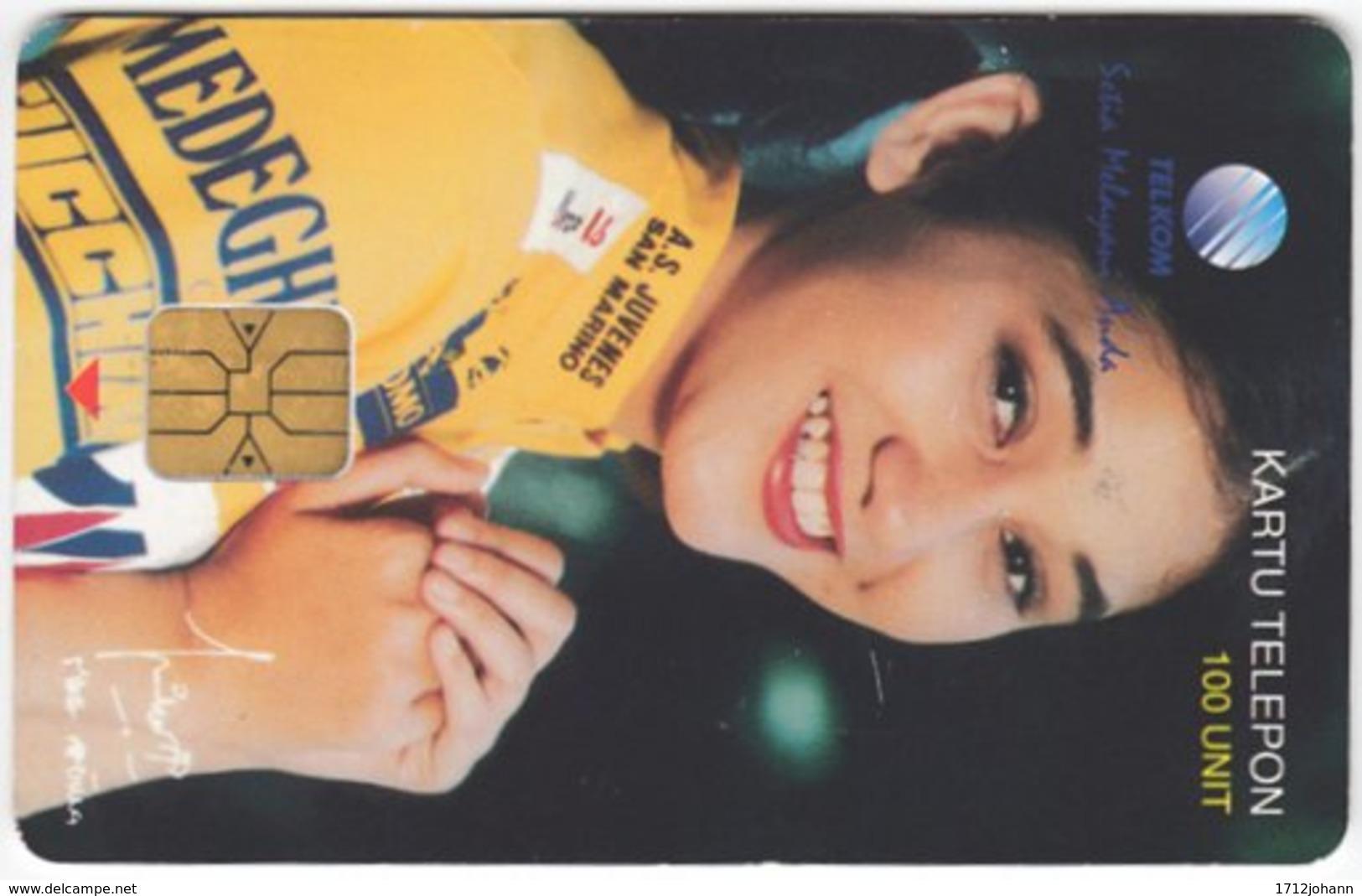 INDONESIA A-244 Chip Telekom - People, Woman - Used - Indonesien