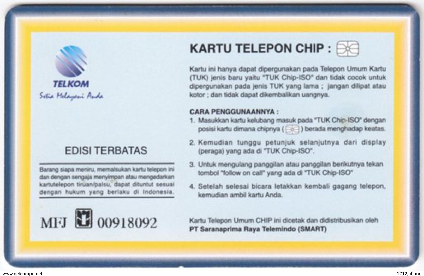INDONESIA A-245 Chip Telekom - People, Woman - Used - Indonesien