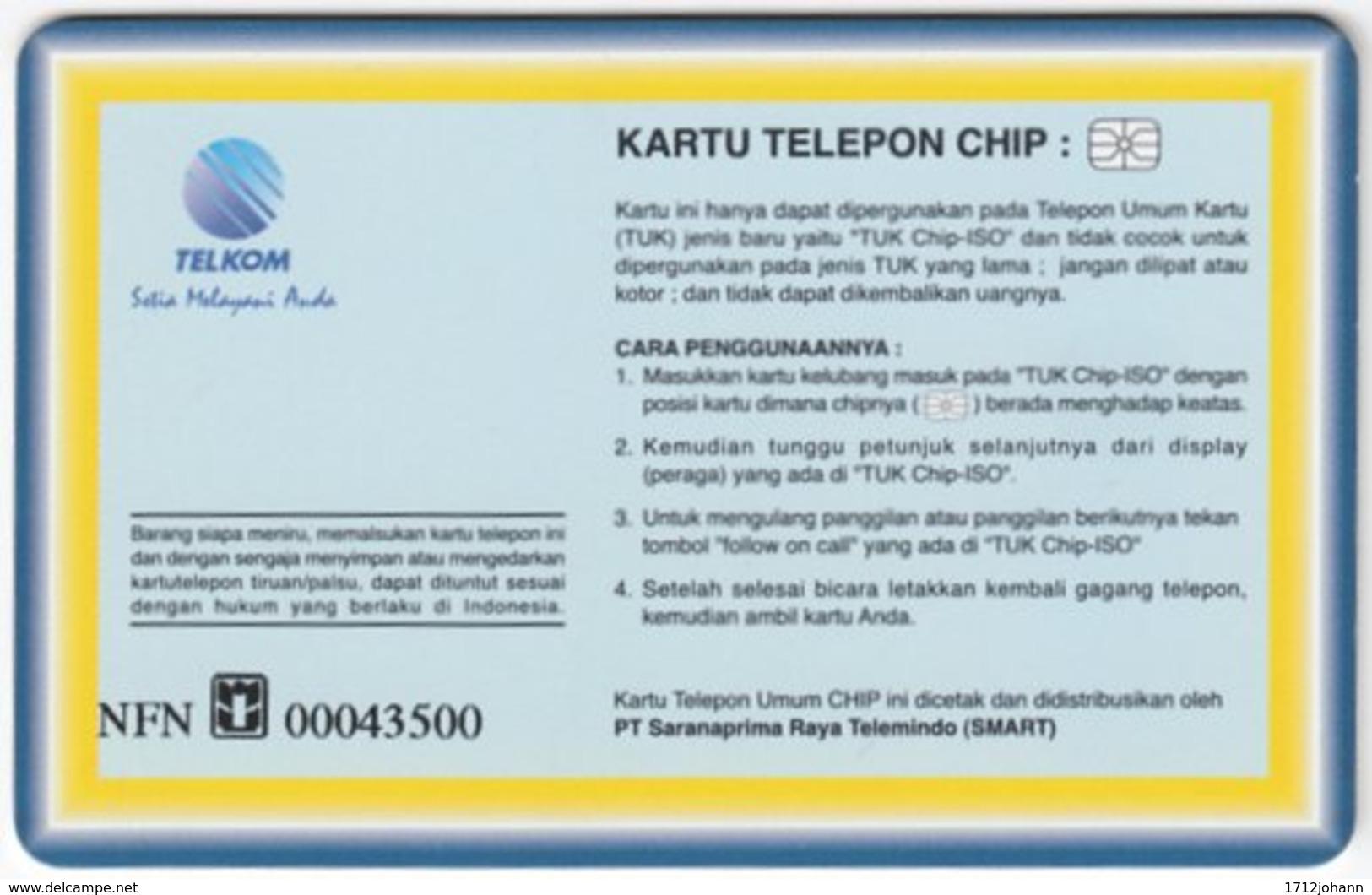 INDONESIA A-257 Chip Telekom - Landmark, Victoria Falls - Used - Indonesien