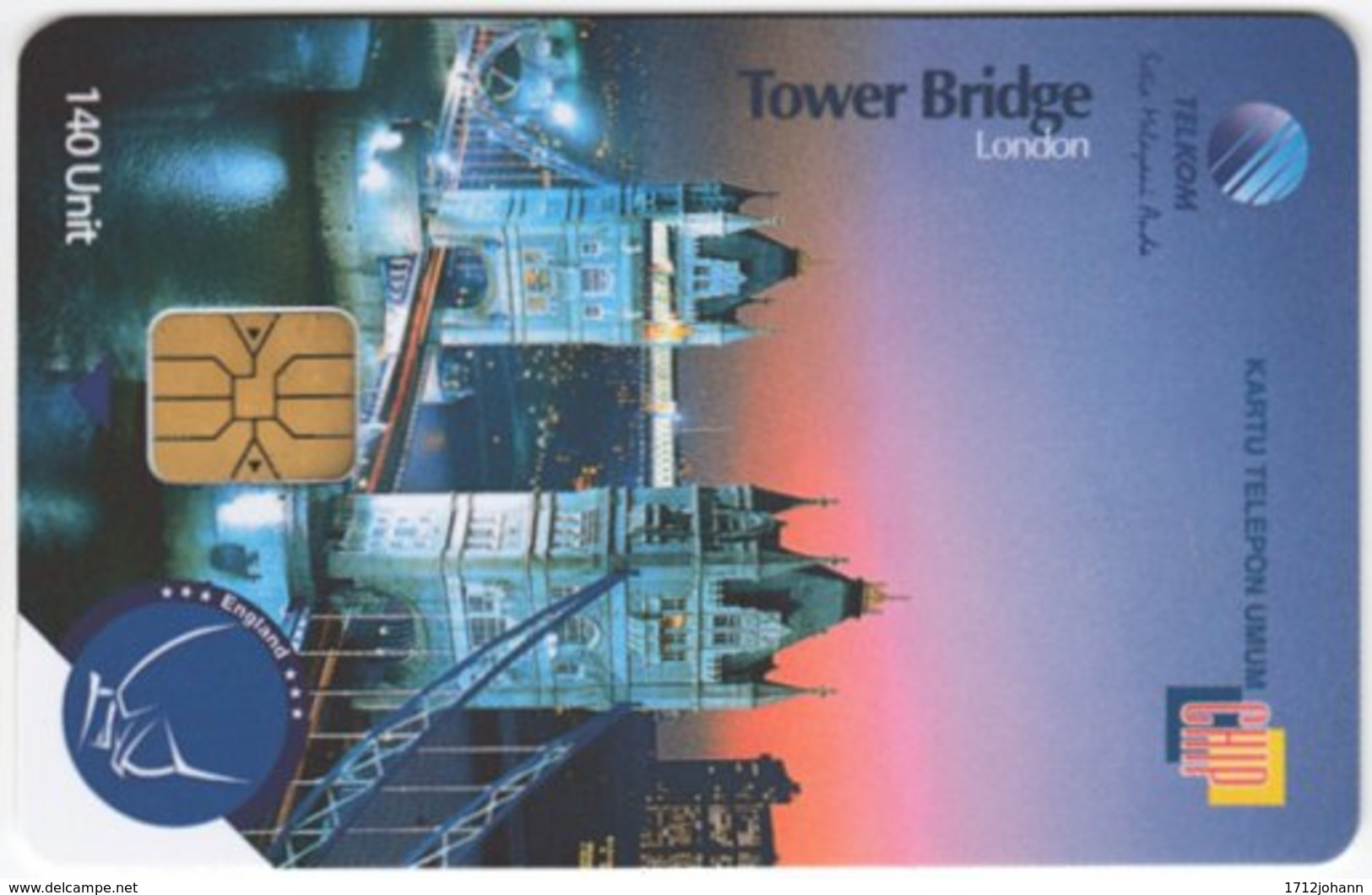 INDONESIA A-260 Chip Telekom - Landmark, Tower Bridge, London - Used - Indonesien