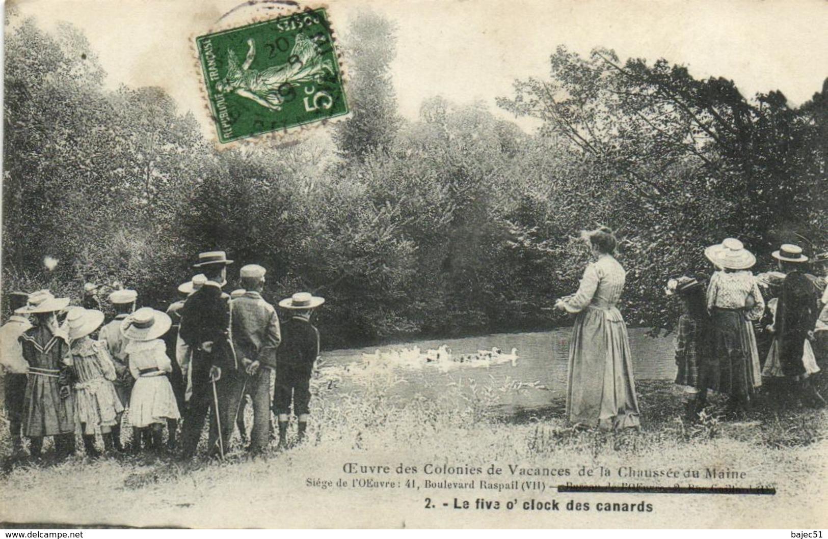 1 Cpa Paris Oeuvre Des Colonies De Vacances De La Chaussée Du Maine - 2 - La Fiva O'clock Des Canards - Zonder Classificatie