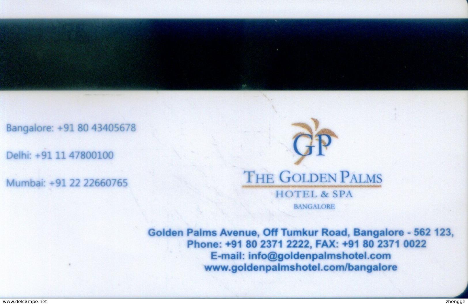 India Hotel Key, The Golden Palms Hotel & Spa Bangalore  (1pcs) - India