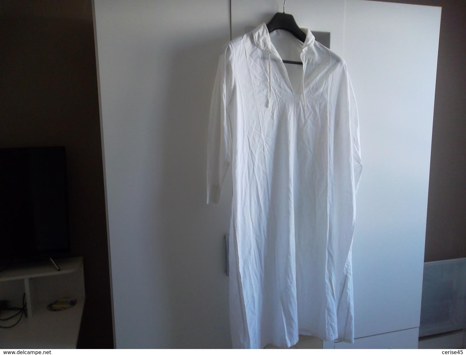 Chemise De Nuit Coton Ete Femme Vintage - Autres
