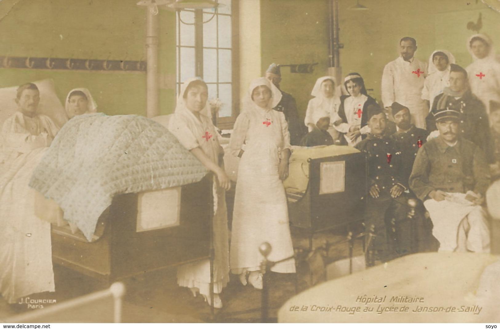 Croix Rouuge Guerre 14 WWI Hopital Militaire Lycée Janson De Sailly   Red Cross Nurses - Croix-Rouge