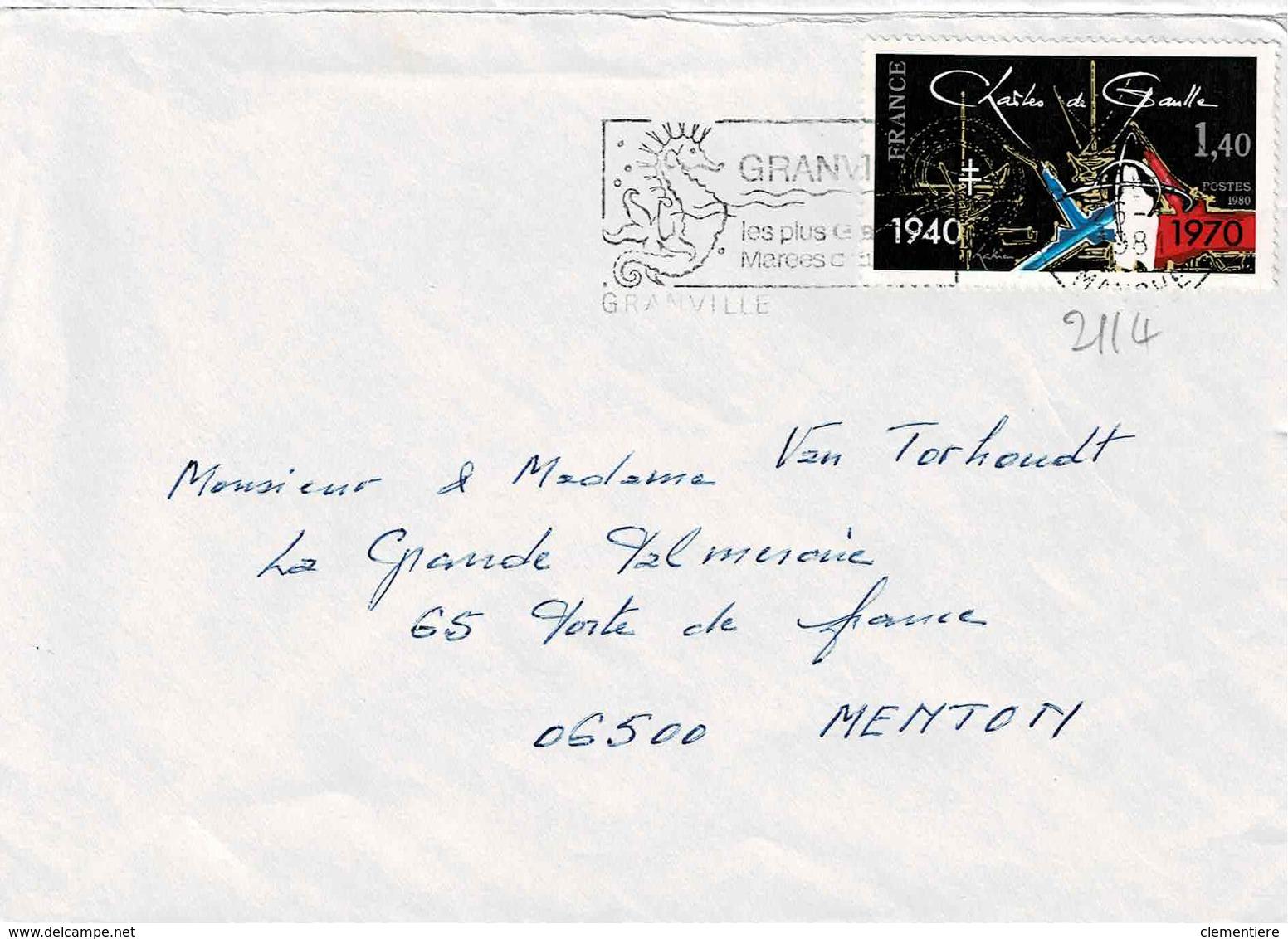 TP  N° 2115 Sur Enveloppe De Granville - 1961-....