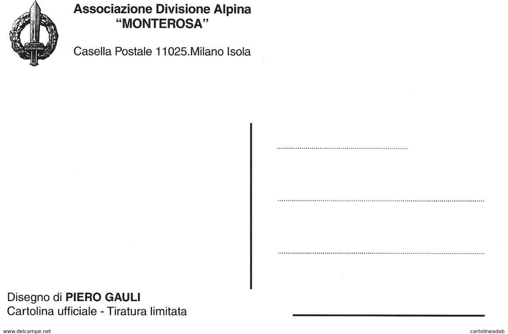 [MD2750] CPM - ASSOCIAZIONE DIVISIONE ALPINA MONTEROSA - DIS. PIERO GAULI - TIRATURA LIMITATA - NV - Regiments