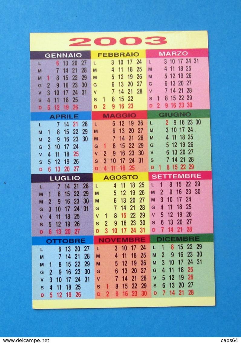 BAR SWEET TORINO 2003 CALENDARIO BIGLIETTO DA VISITA - Calendari