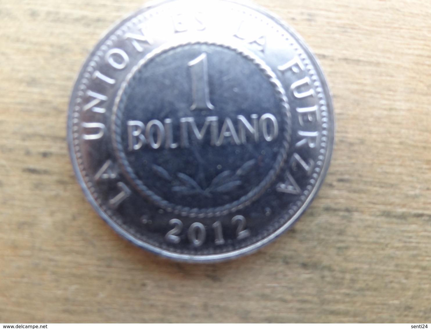 Bolivie  1  Boliviano 2012  Km !!! - Bolivia