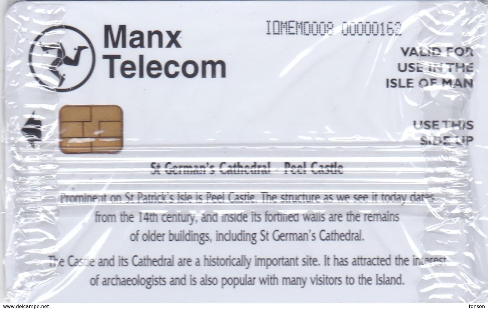 Isle Of Man, MAN 166, St German's Cathedral, Peel Castle, Mint In Blister, 2 Scans . - Isla De Man