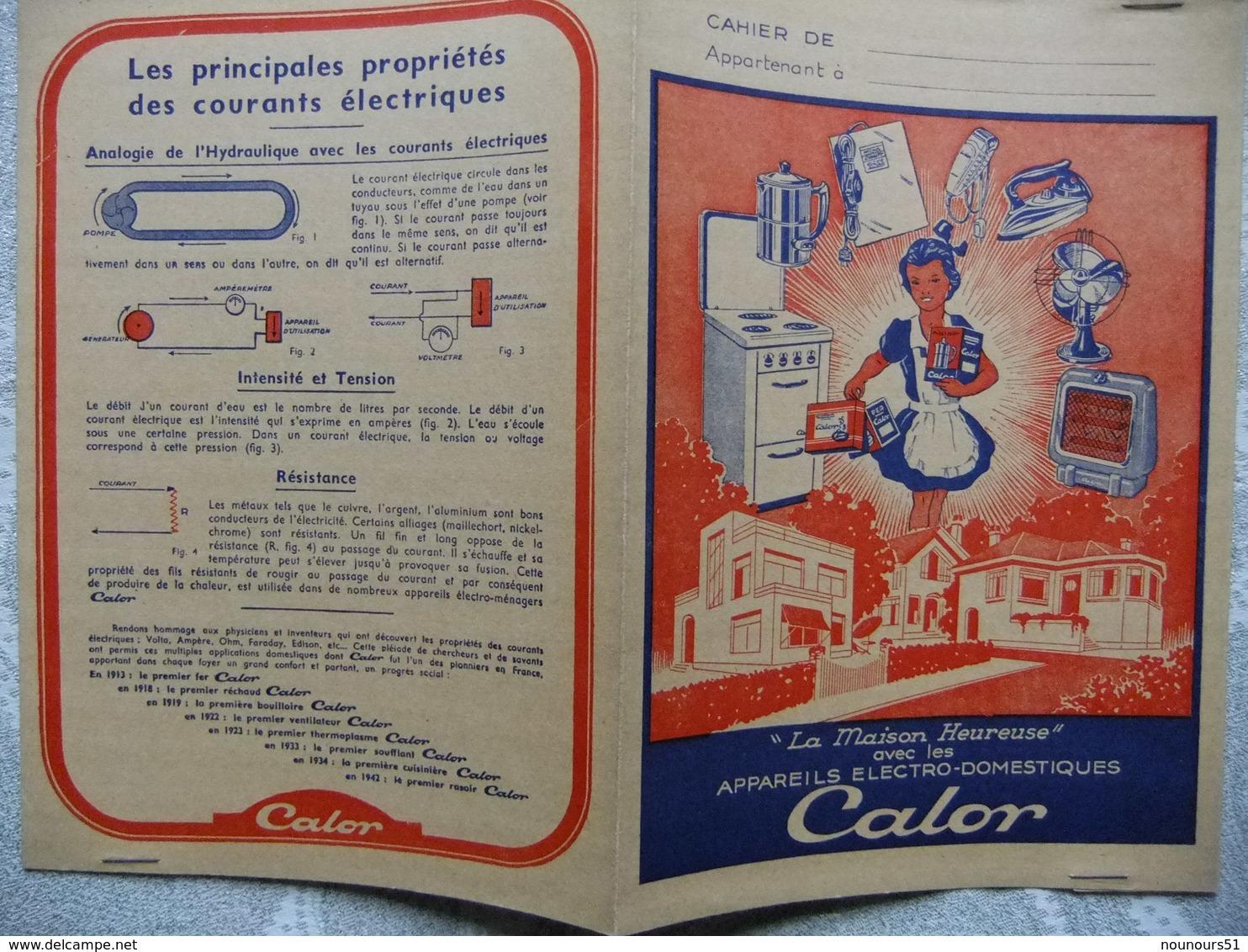 Année 60 Protège Cahier APPAREILS ELECTRO-DOMESTIQUES  CALOR - Protège-cahiers