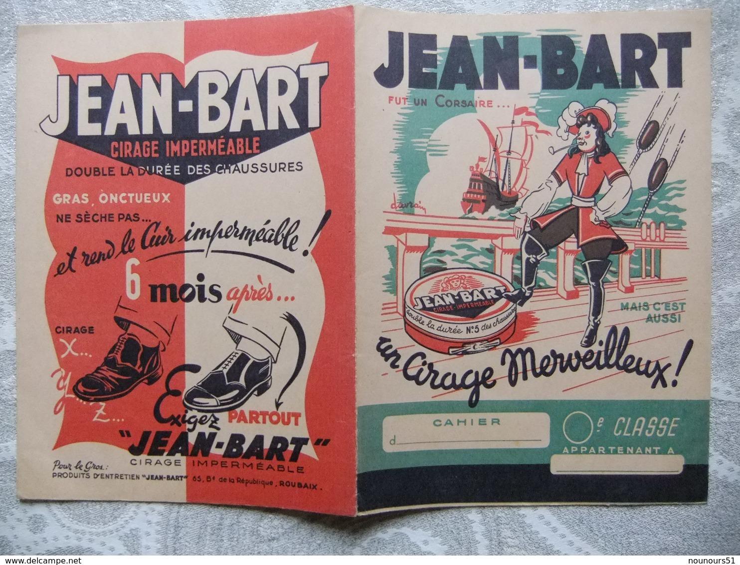 """Année 60 3 Protèges Cahiers Lessive SAPOLUX - Cirage """"JEAN-BART""""- Cirage ABELLE + 2 Publicitées Ci Joint Avec - Protège-cahiers"""