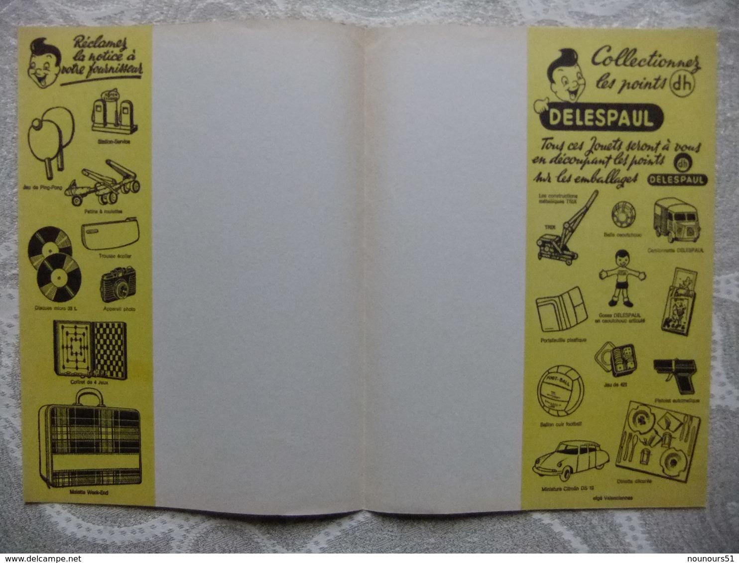Année 60 Protège Cahier  CHOCOLAT BONBONS CONFISERIE FINE  DELESPAUL - Protège-cahiers