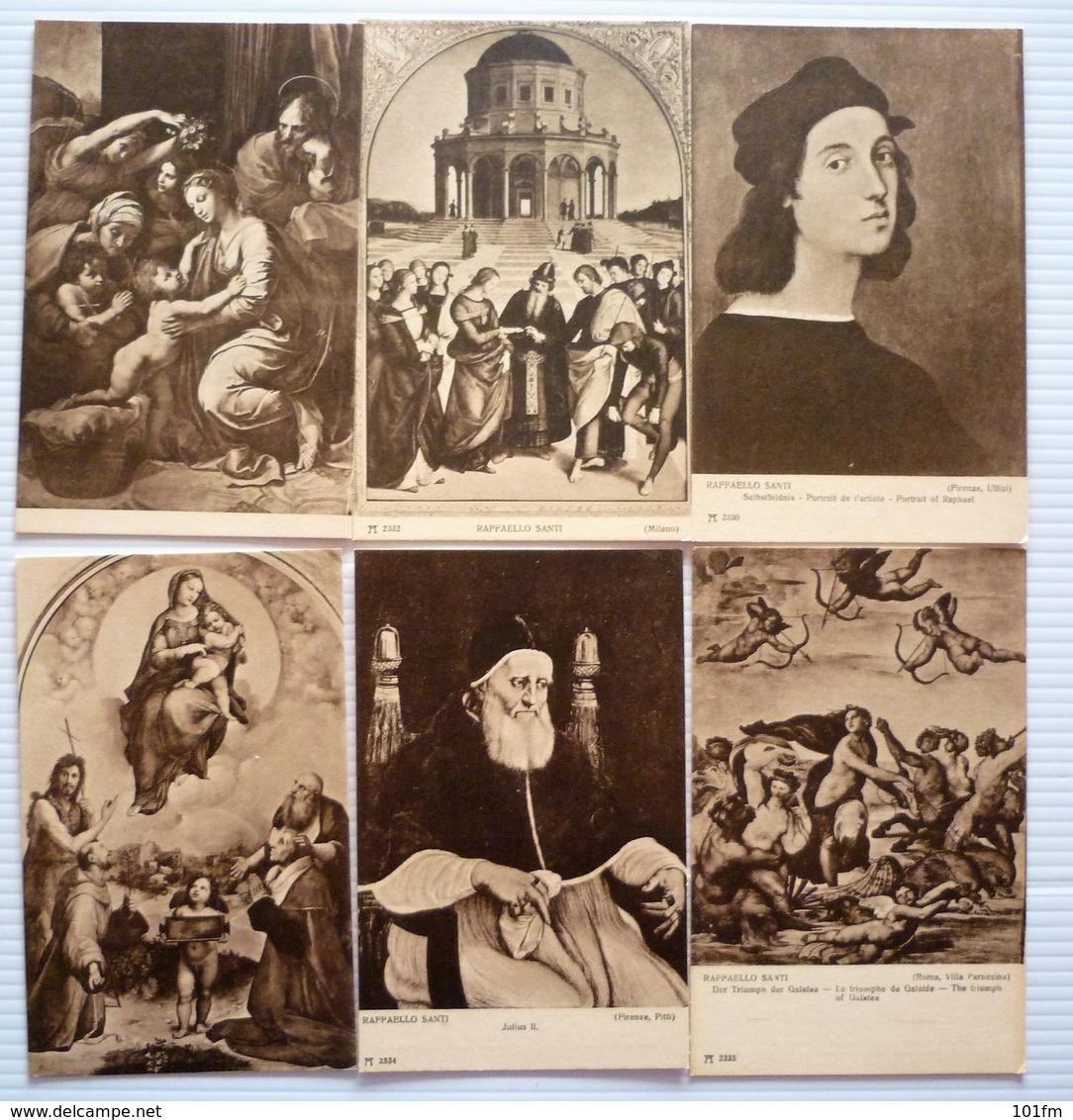 LOT OF11 DIFFERENT OLD POSTCARDS - RAFFAELO SANTI - Cartes Postales