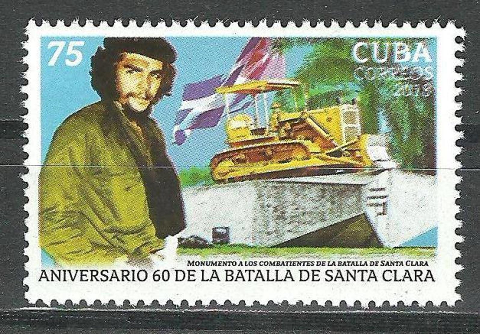 Cuba 2018 60th Anniversary Of Santa Clara's Fight. Ernesto Che Guevara's 1v MNH - Cuba