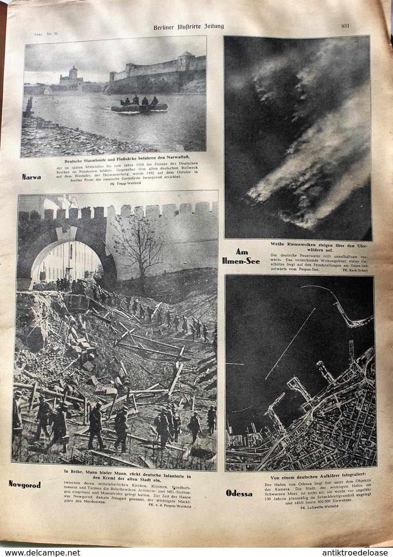 Berliner Illustrierte Zeitung 1941 Nr.36  Panzer Machten Bolschewikische Gefangene - Deutsch