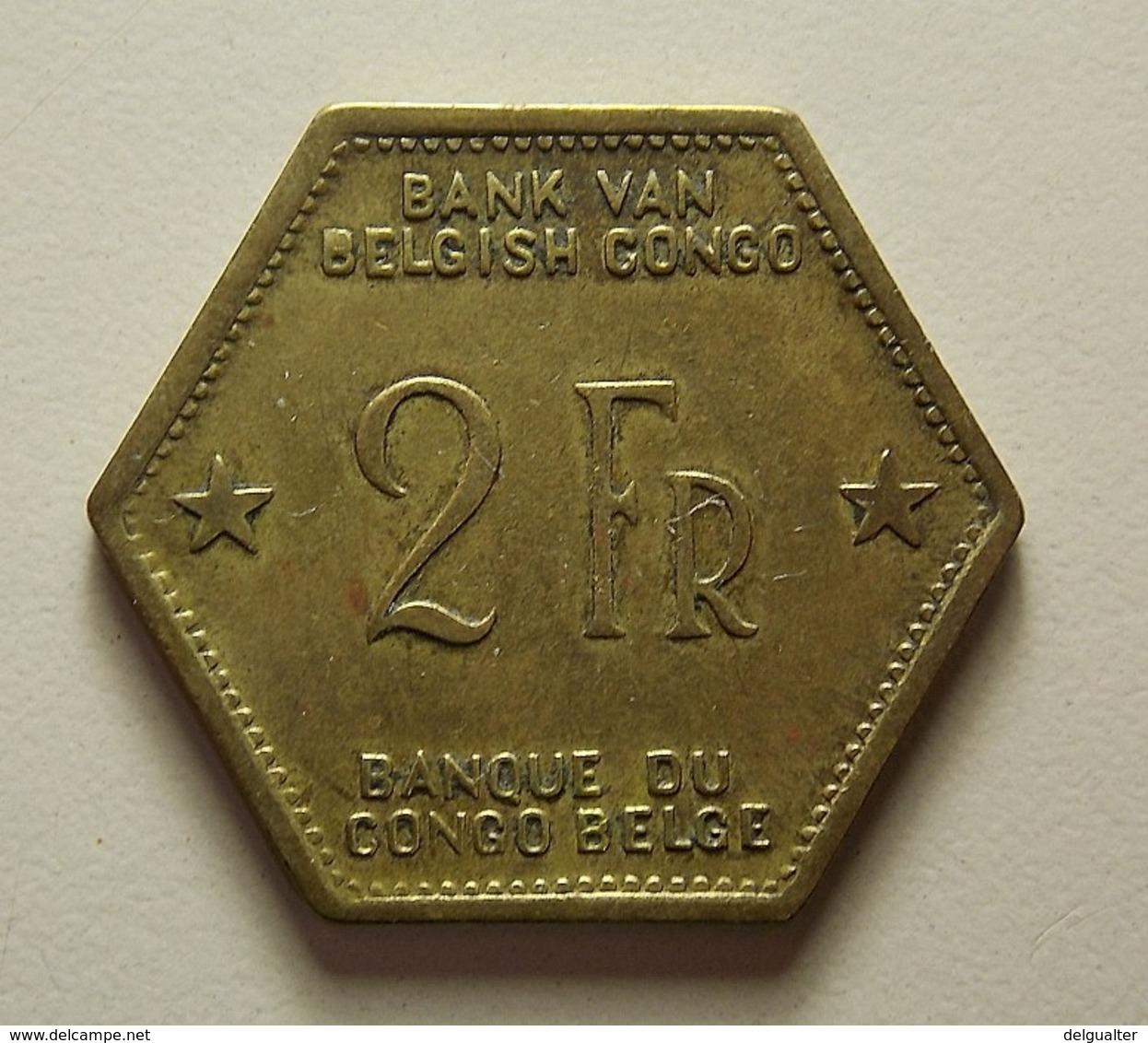 Belgian Congo 2 Francs 1943 - Belgisch-Kongo & Ruanda-Urundi