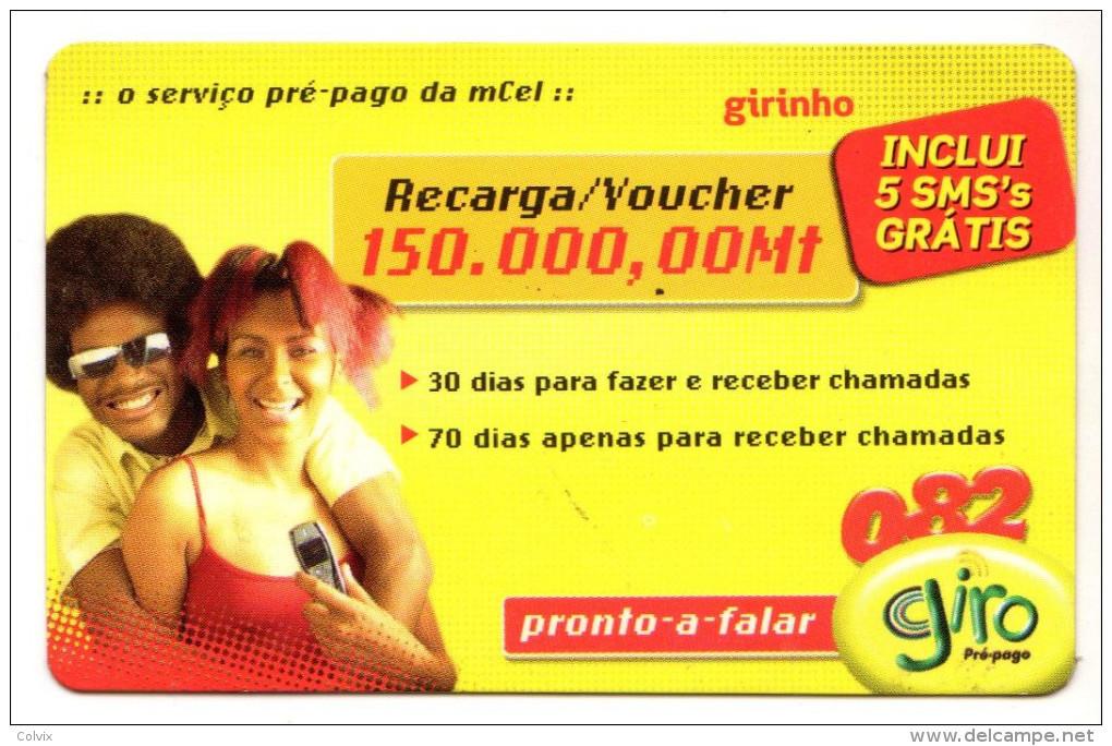 MOZAMBIQUE RECHARGE GIRO 150 000 Mt Année 2005 - Mozambique