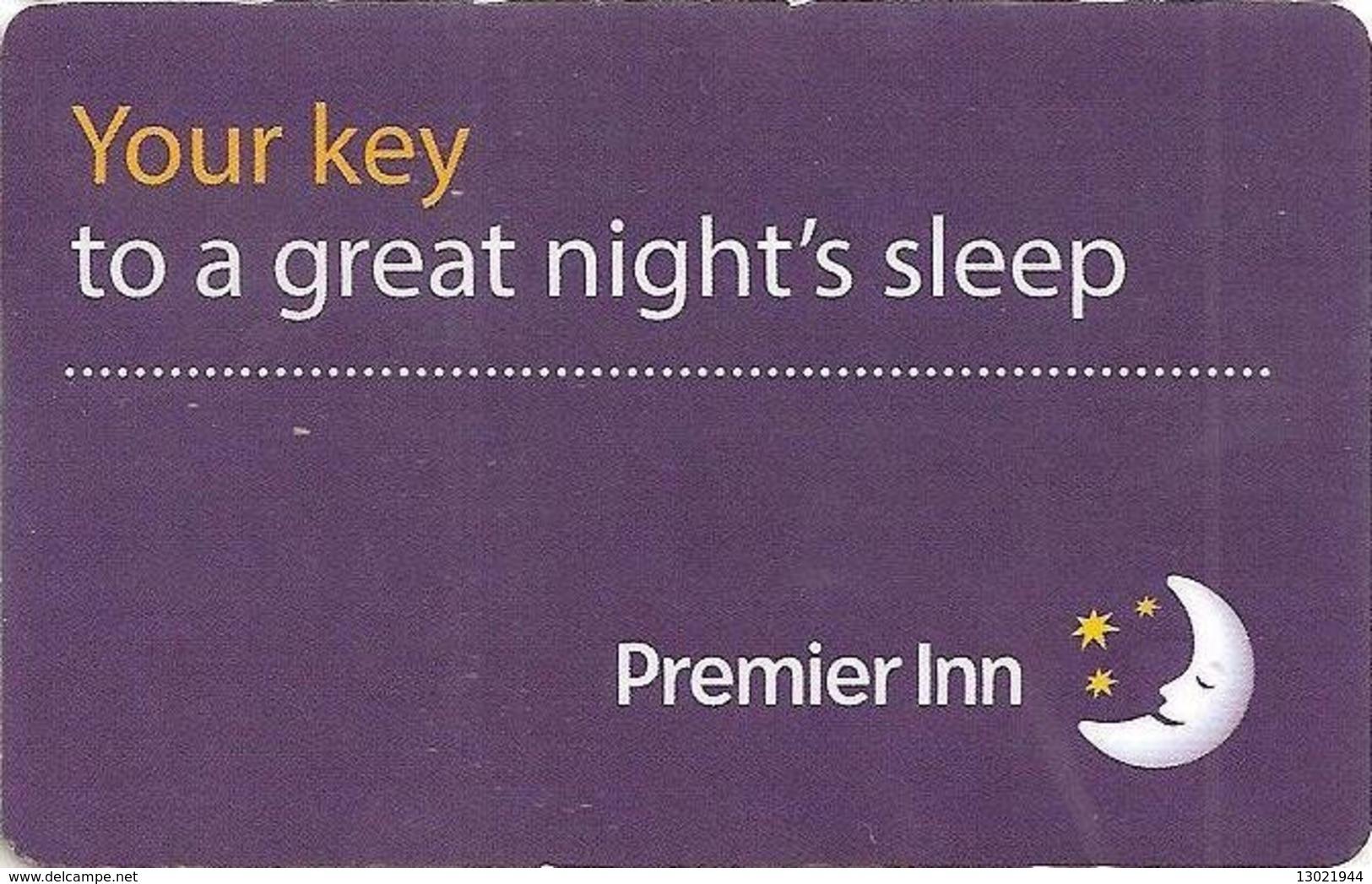 INGHILTERRA KEY HOTEL   Premier Inn - Your Key To A Great Night's Sleep - Cartes D'hotel