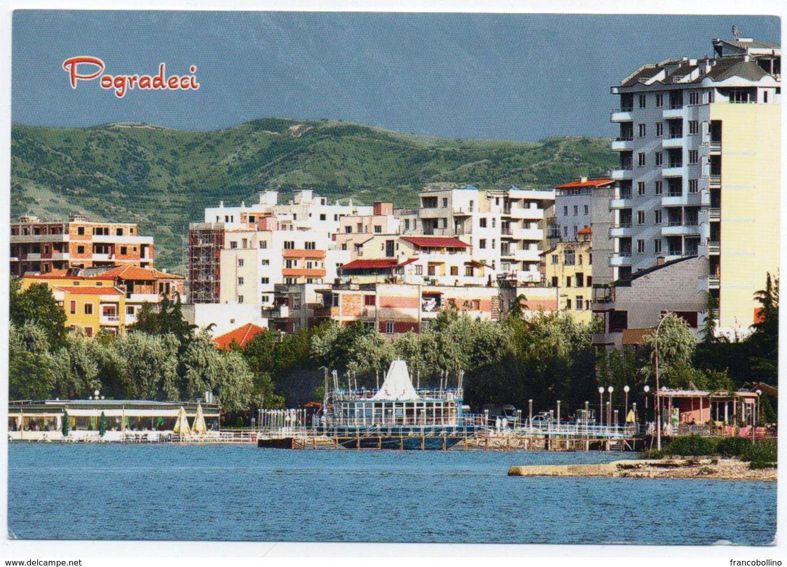ALBANIE/ALBANIA - VIEW FROM POGRADECI / THEMATIC STAMP-FOLK DANCE - Albania