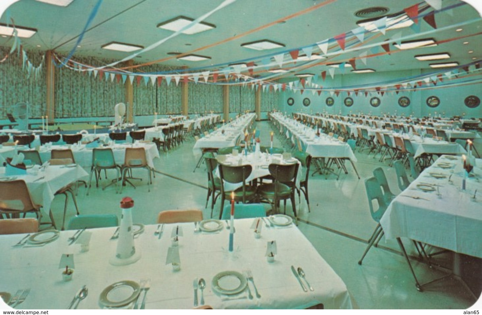 Berrien Springs Michigan, Andrews University Wolverine Room Campus Health Center, C1950s/60s Vintage Postcard - United States