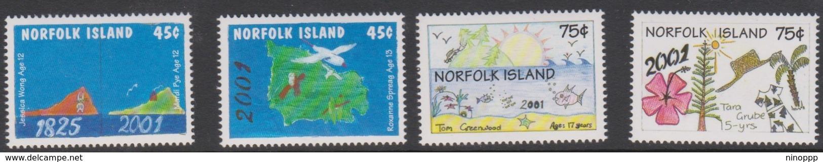 Norfolk Island ASC 730-733 2000 New Millennium, Mint Never Hinged - Norfolk Island